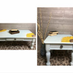 light blue coffee and end table with sunflowers etsy fullxfull mjen elephant leg mid century modern bedroom furniture sofa decoration living room fur iron pipe desk legs 150x150