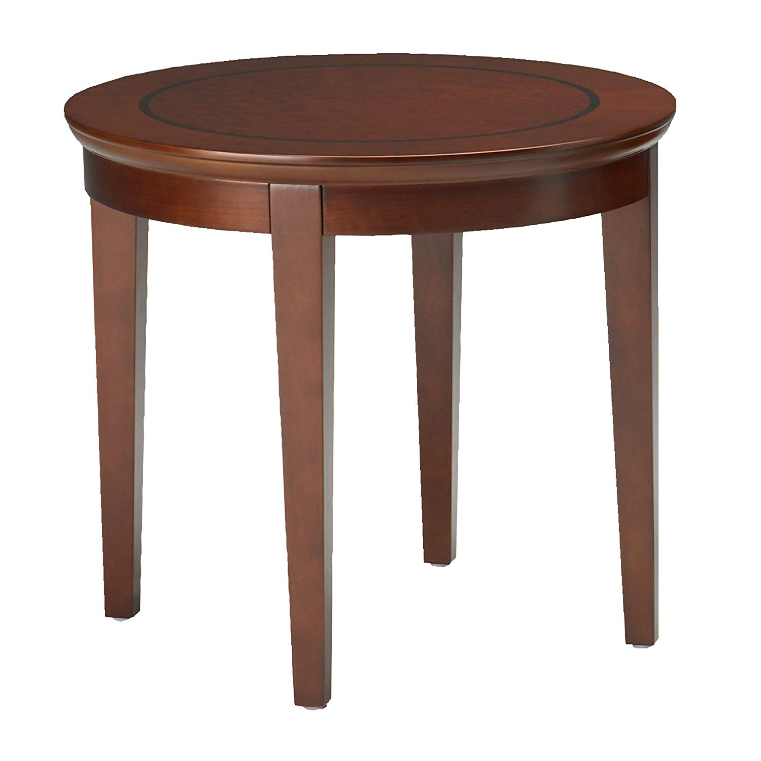 line setscr sorrento round end table bourbon cherry finish veneer kitchen dining leather theater seating brass accent mission style furniture plans plexi coffee mainstays console
