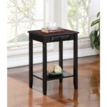 linon home decor camden black cherry storage end table tables the small mid century white with gold legs width coffee wrought iron and glass patio bear nightstand side ethan allen 150x150