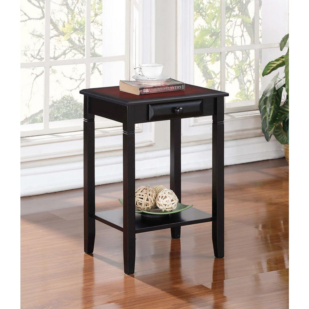 linon home decor camden black cherry storage end table tables the small mid century white with gold legs width coffee wrought iron and glass patio bear nightstand side ethan allen