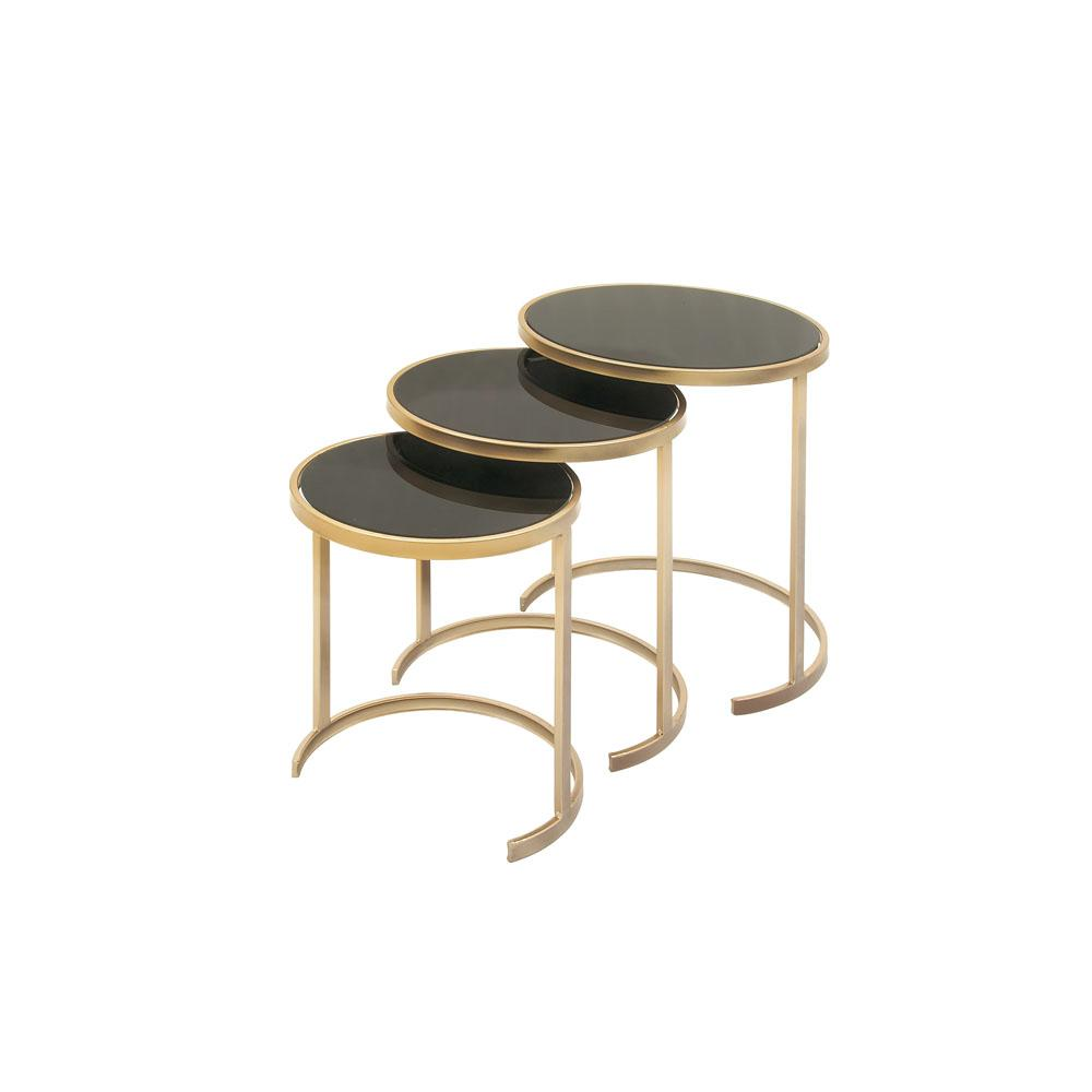 litton lane black glass round nesting tables with gold iron legs end set the outdoor side table clearance used oak furniture extra high dog crates stickley chicago sofa uttermost