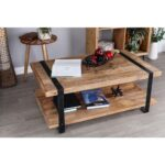litton lane stained brown and black coffee table the tables end granite wood small gray real genuine leather sofas grey couch with dark furniture victorian lanai leons bunk beds 150x150