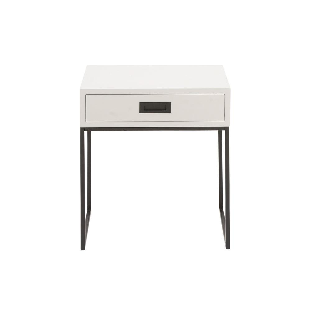 litton lane white single drawer side table the end tables one genuine leather sofa and loveseat furniture row commercial who makes pottery barn diy redo gray wall brown couch