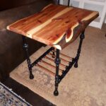 live edge juniper with black pipe and copper base end table thomasville bedroom furniture diy tire dog glass tall touch lamps value city magnolia market toscana french country 150x150
