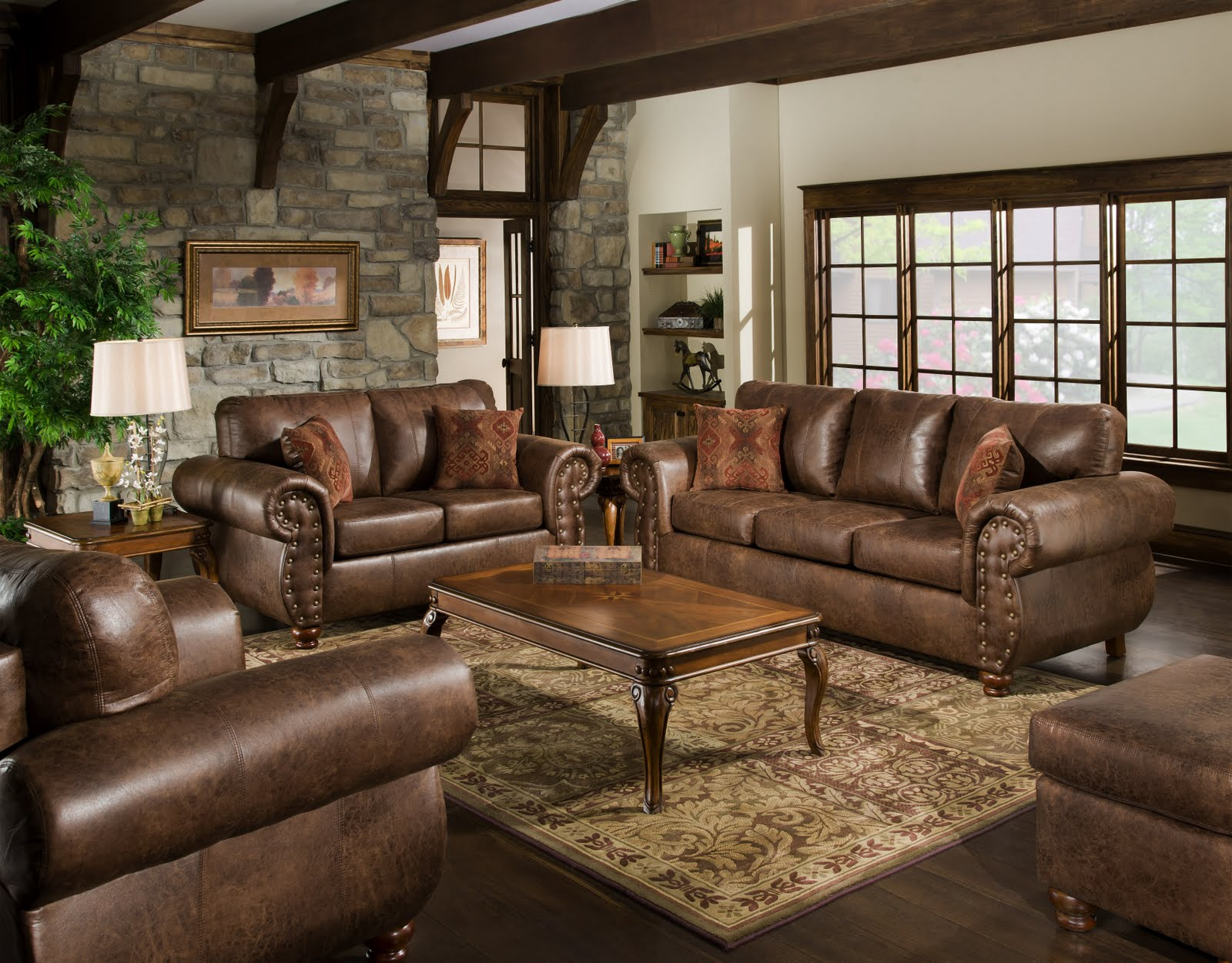 living room amazing decorating chocolate brown wonderful furniture leather arms sofa sets beige floral wool rug wooden laminate flooring what color end tables with dark dog kennel