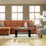 living room orange tufted lounge with grey faux leather sofa chair white pattern rug target black metal leg glass top table wooden laminate flooring idea silver end lamp rainbow 150x150