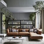 living rooms with brown sofas tips inspiration for decorating them black bookcase what color end tables dark couch and rectangle glass top kitchen frosted table white lacquer side 150x150