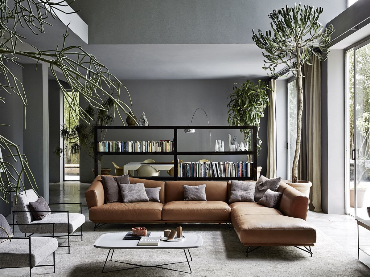 living rooms with brown sofas tips inspiration for decorating them black bookcase what color end tables dark couch and rectangle glass top kitchen frosted table white lacquer side