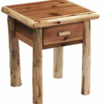 log end table night stand space saver top quality rustic furniture tables solid thomasville elysee bedroom narrow bedside unit resin painted bench white oak old style side target 150x150