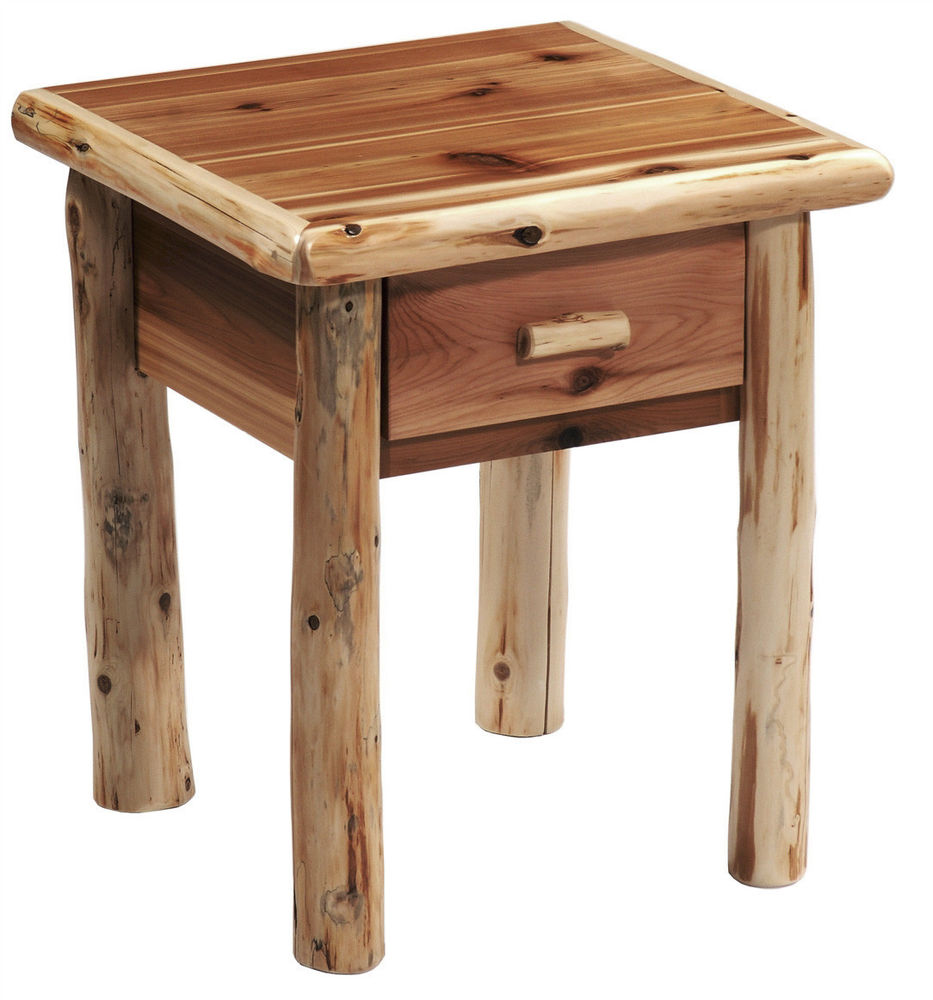 log end table night stand space saver top quality rustic furniture tables solid thomasville elysee bedroom narrow bedside unit resin painted bench white oak old style side target