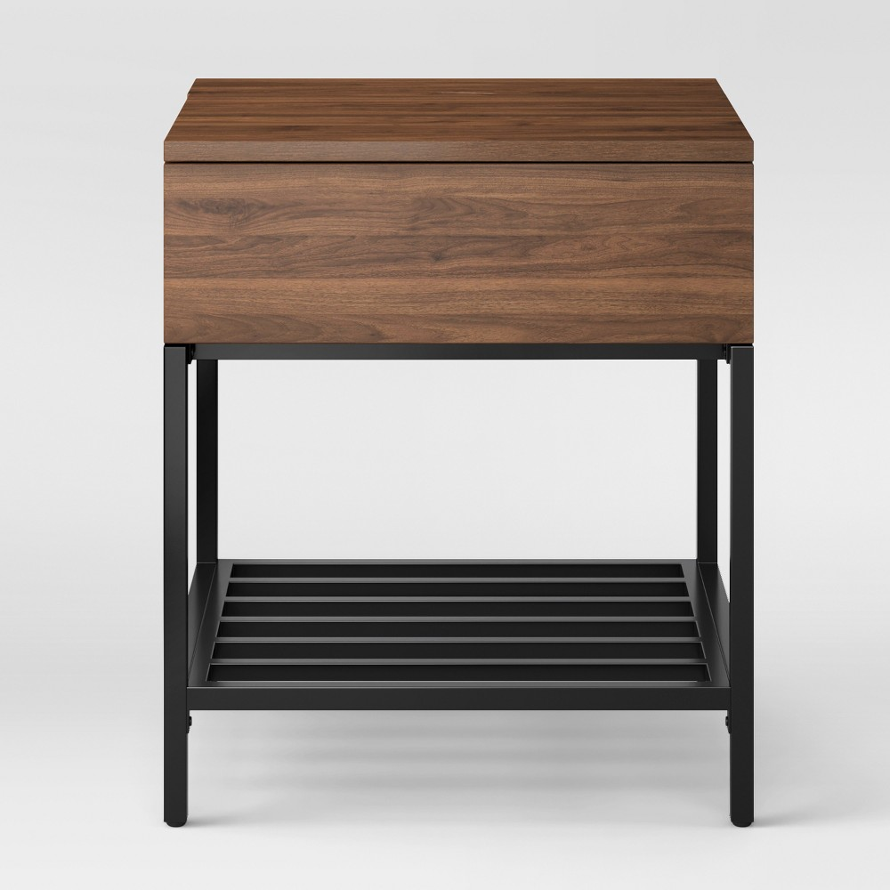 loring side table walnut brown project products black end tables target furniture san bernardino allure coffee magnolia retailers burning log yard row couches mainstays phone