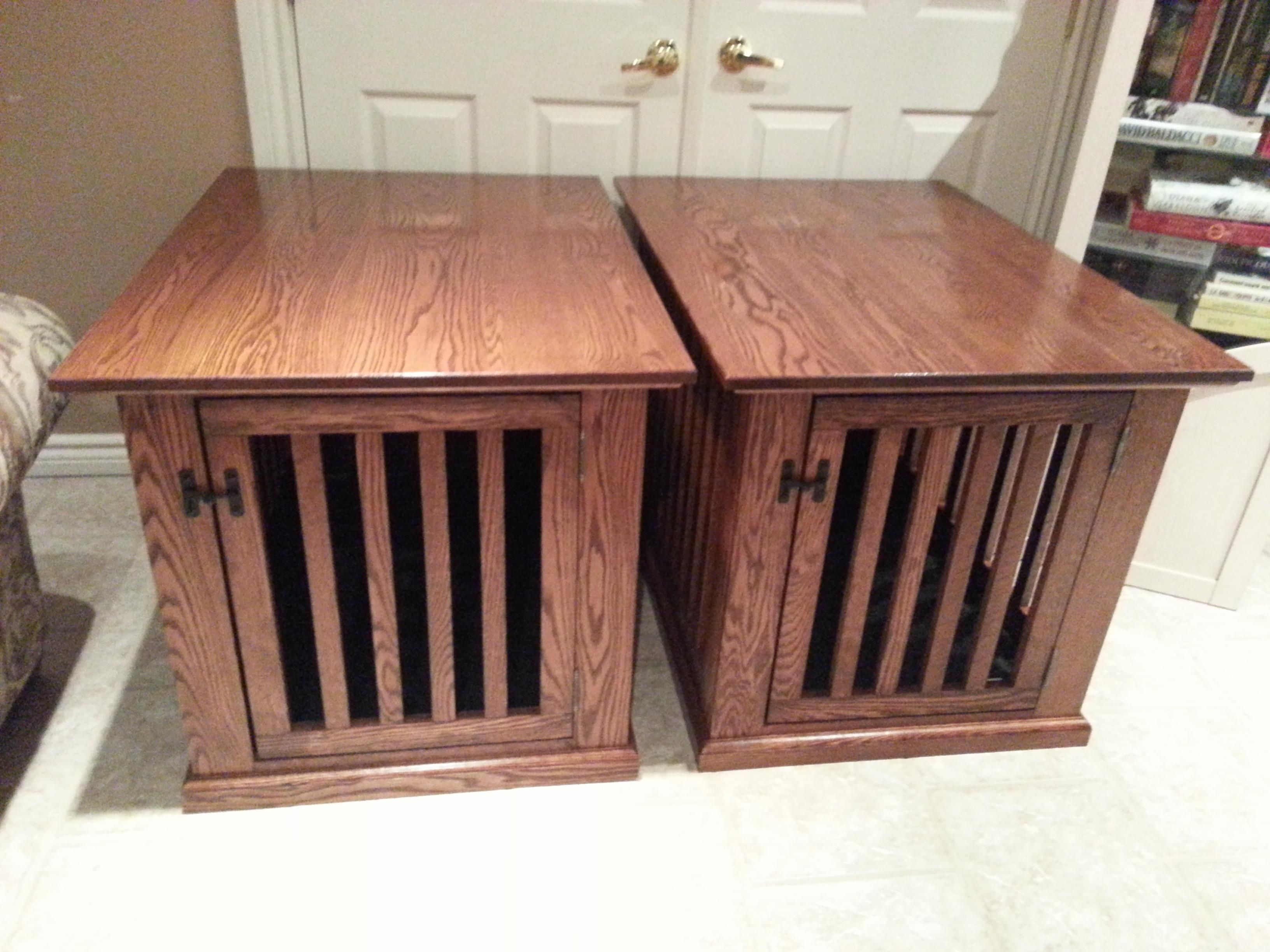 made couple dog crate end tables solid oak and ton crates that look like mortise tenons magnolia farms fixer upper hours operation promo code off antique drum table breegin