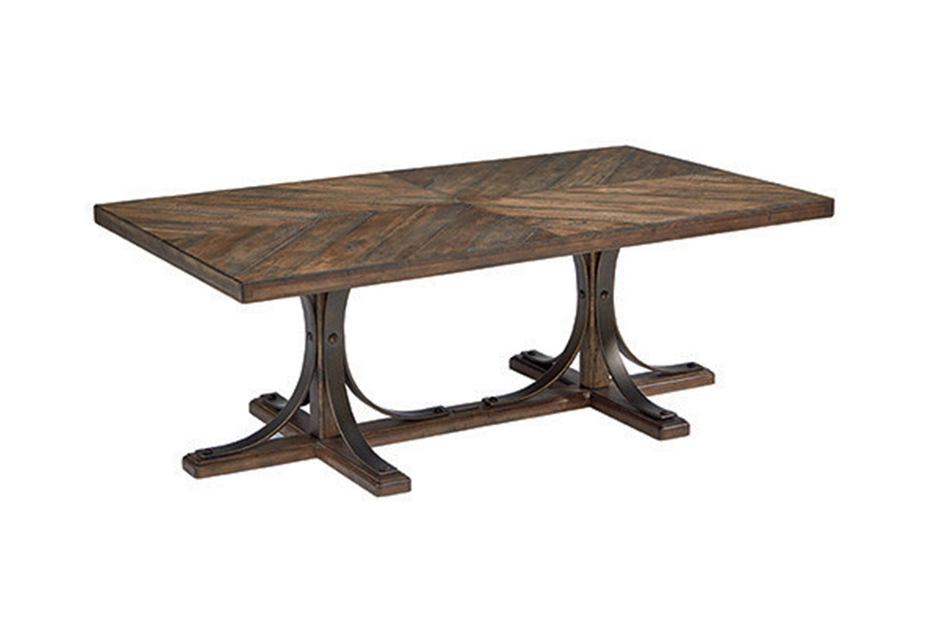 magnolia home iron trestle coffee table joanna gaines living spaces furniture end tables qty has been successfully your cart white cottage style unfinished wood secretary desk