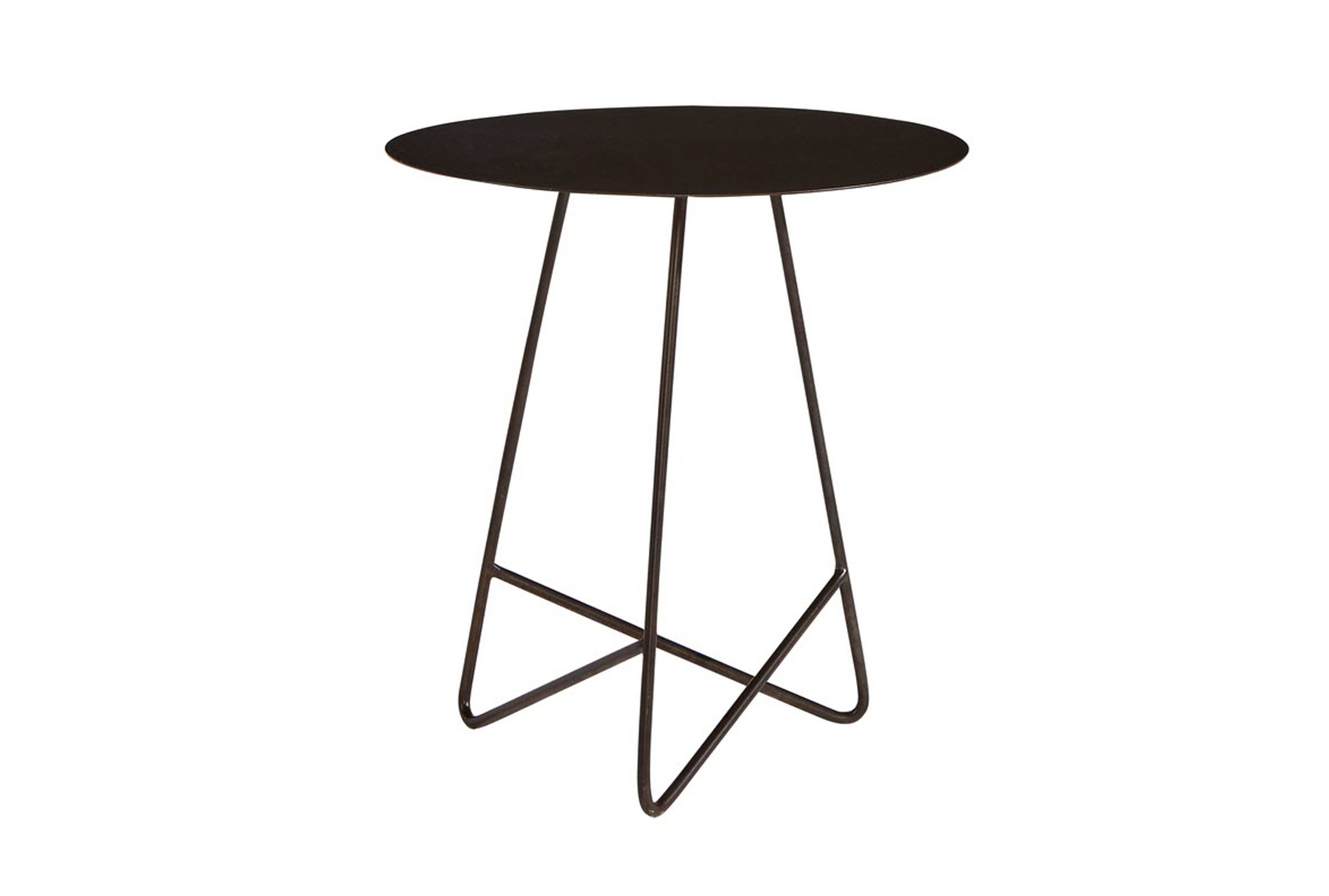 magnolia home traverse carbon round end table joanna gaines black metal qty has been successfully your cart brushed nickel floor lamps large nightstands pie crust iron patio side