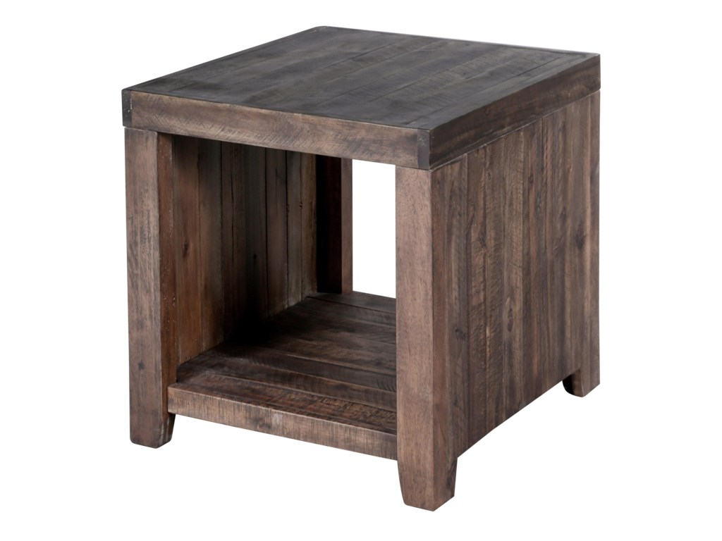 magnussen home caitlyn rustic rectangular end table with products color furniture tables one shelf small nightstands for bedroom black mirror thomasville headquarters pillows