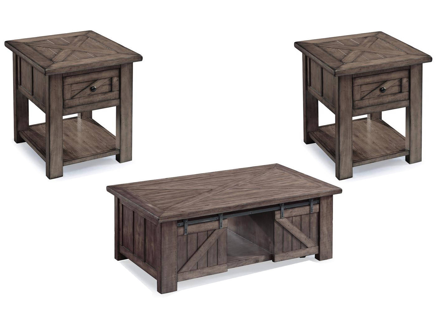 magnussen home garrett wood coffee table set the classy rectangular end tables sets click enlarge inch legs liberty furniture bedroom suites small round plastic outdoor mainstays