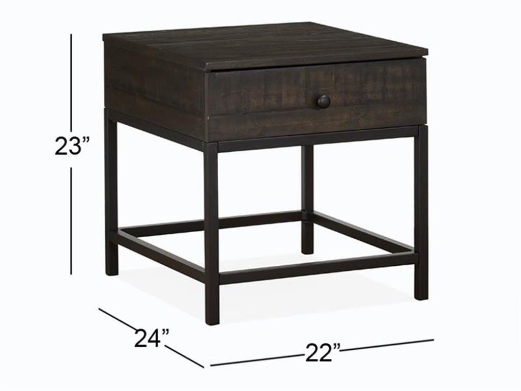 magnussen home living room rectangular end table furniture tables acme queens white glass patio narrow sofa ashley brownsville small round marble top coffee nesting calgary legacy