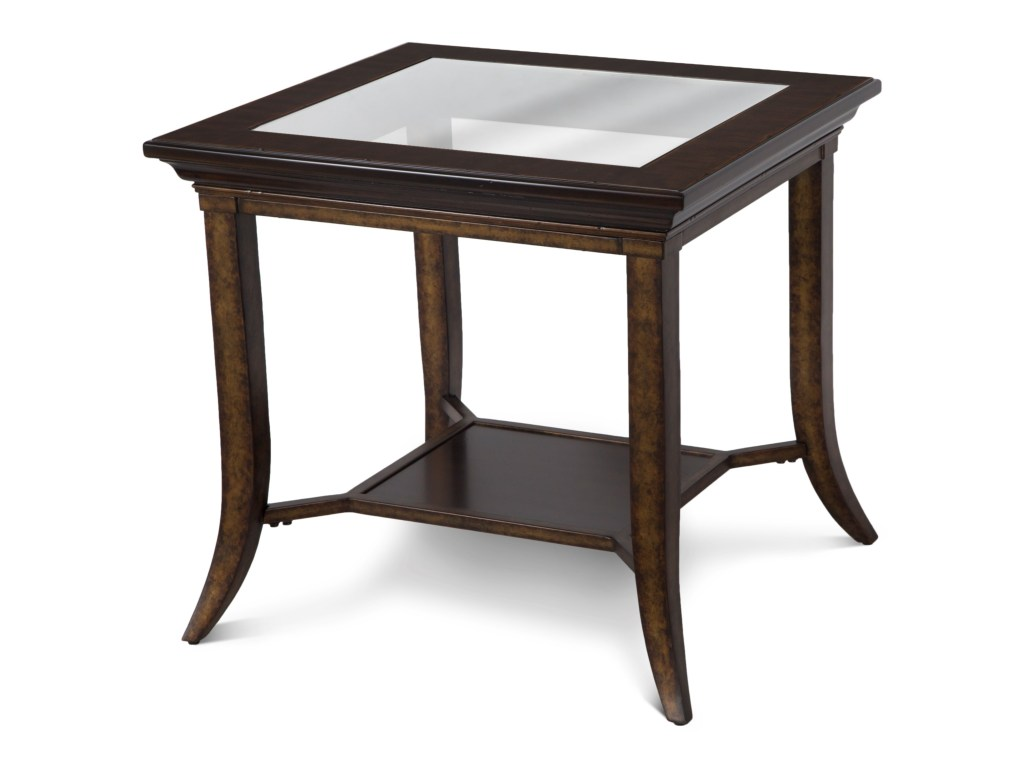 magnussen home parsons rectangular end table with glass top products color antique living room tables iron and best homesense for furniture solid wood coffee white round circular