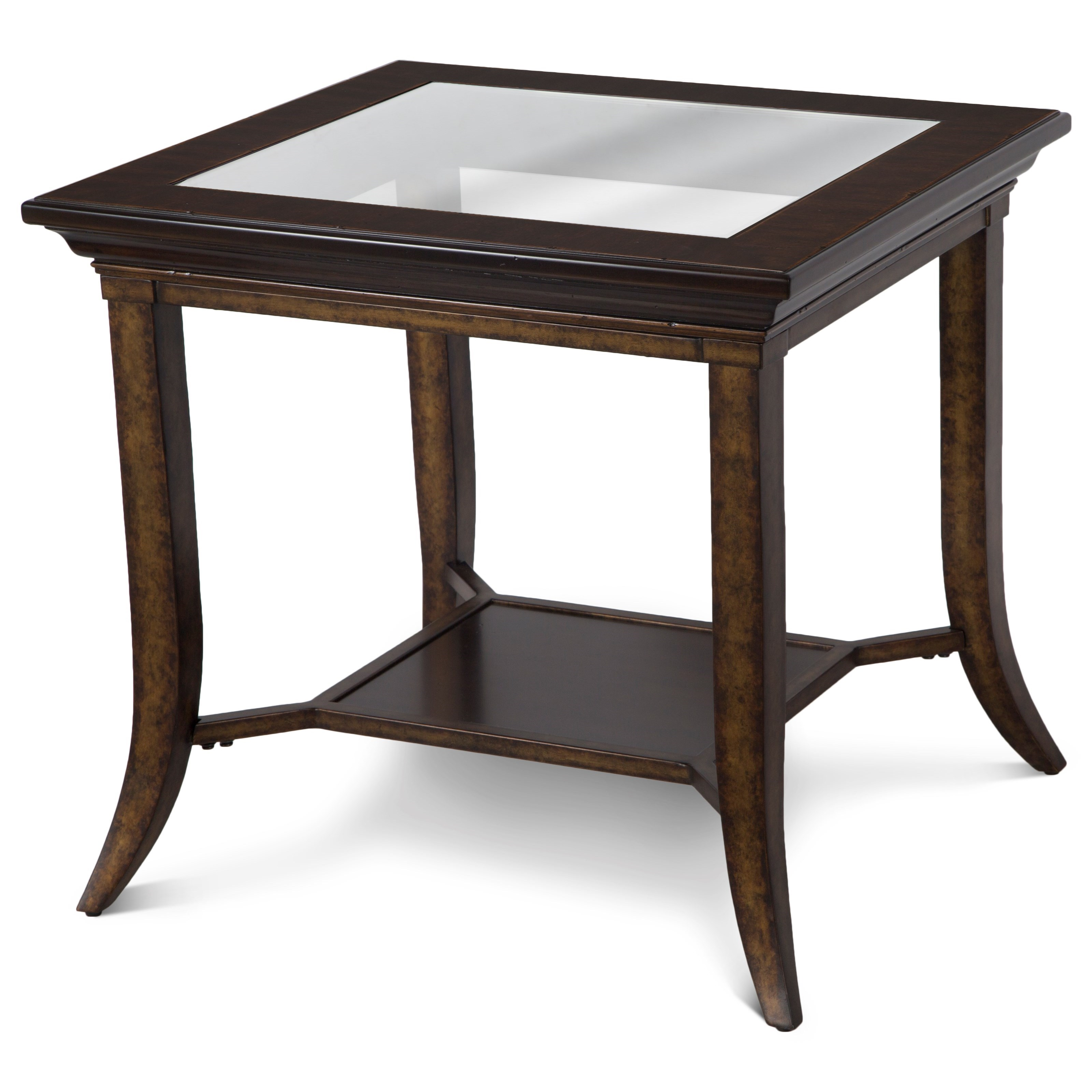 magnussen home parsons rectangular end table with glass top value products color furniture tables nesting calgary oak sofa side black mirror white patio pillows for brown leather