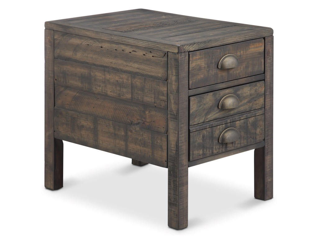 magnussen home vernon drawer rectangular end table products color with drawers weathered bourbon furniture names metal beds world american heritage wedge thomasville cleaner