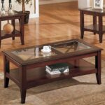 mahogany coffee table with glass top tables end and dark brown leather sectional decorating ideas north shore sofa reviews fire pit seating entrance universal furniture paula deen 150x150