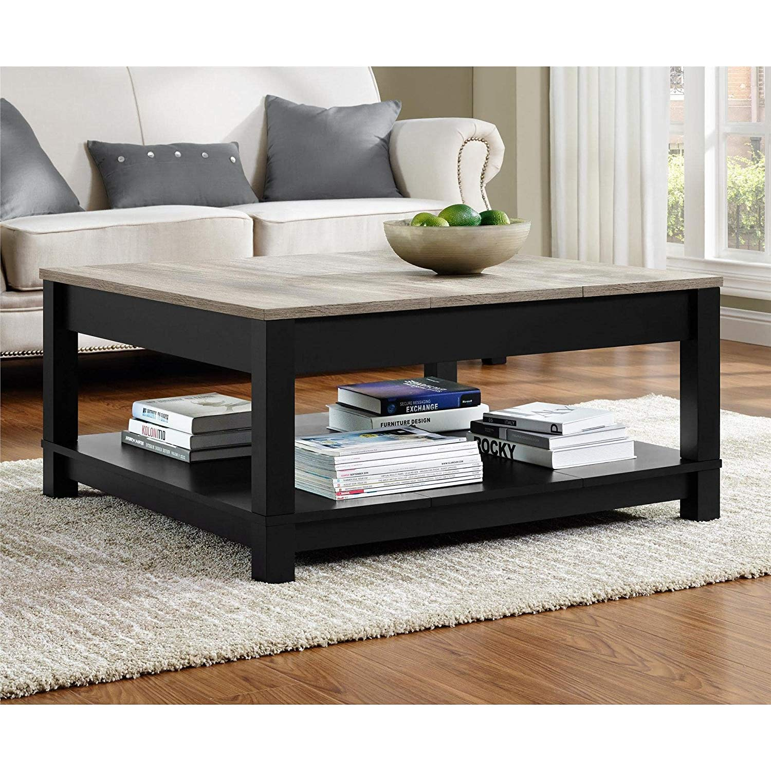 mainstays coffee table black oak finish end assembly instructions stylish spacious bottom shelf finished all sides matte painted light cherry tables dark walnut nightstand glass
