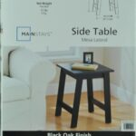 mainstays end table black oak finish assembly instructions oversized coffee with storage modern lamps magnolia home furniture line gray chairs kmart kitchen red for living room 150x150