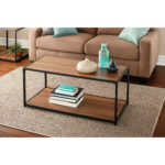 mainstays metro coffee table multiple finishes end tables set black quebec furniture manufacturers inch high west elm parsons buffet brown sofa grey carpet ashley bailey white 150x150
