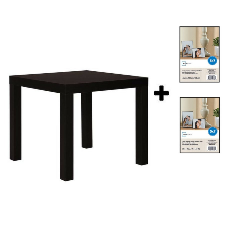 mainstays parsons side end table multiple colors black espresso with format frame kitchen dining diy dog kennel ideas homemade ashley signature chairs sectional couches big lots