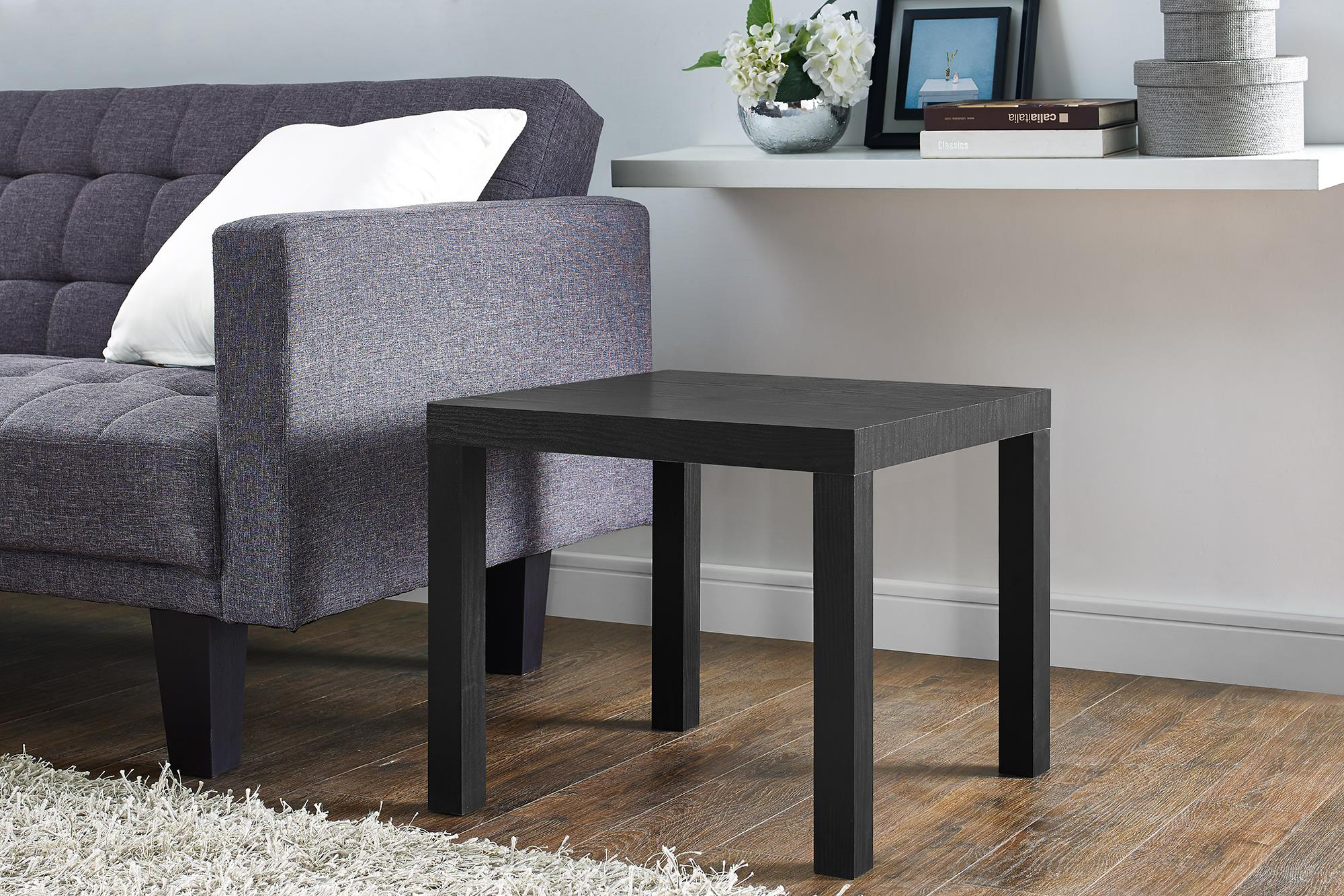 mainstays parsons square end table multiple colors dhp modern black wood grain dark blue coffee montreal white porch pallet patio ideas best dining room tables rustic ethan allen