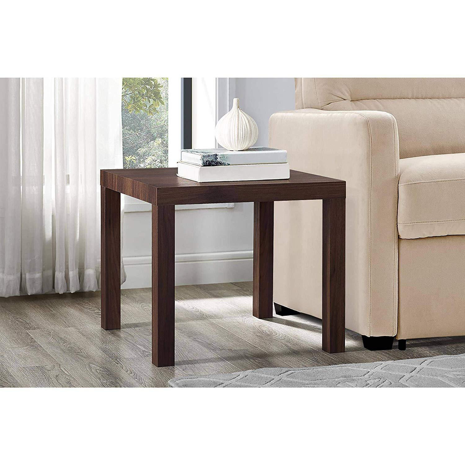 mainstays parsons square end table multiple colors espresso canyon walnut kitchen dining ashley signature chairs black accent can you spray paint finished wood kure furniture inch