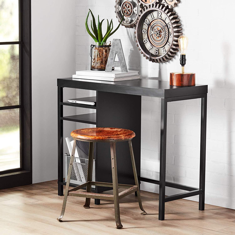 mainstays sumpter park cube storage desk solid black end table oak finish kitchen dining homesense bedding sets modern glass bedside tables west elm wardrobe affordable