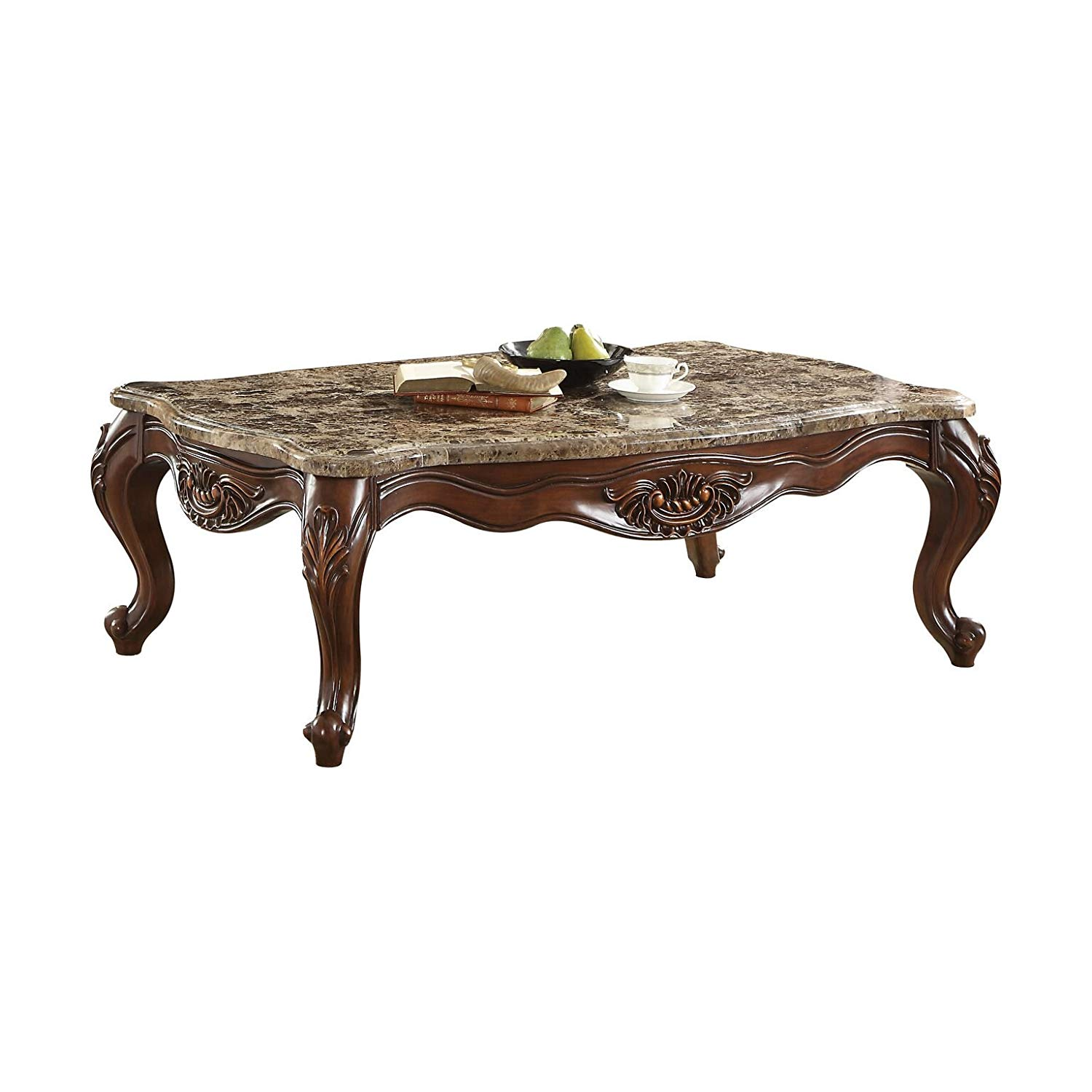 major traditional style high end coffee tables luxurious scalloped marble top dark walnut finish living room table home kitchen magnussen ashby collection target parsons sofa