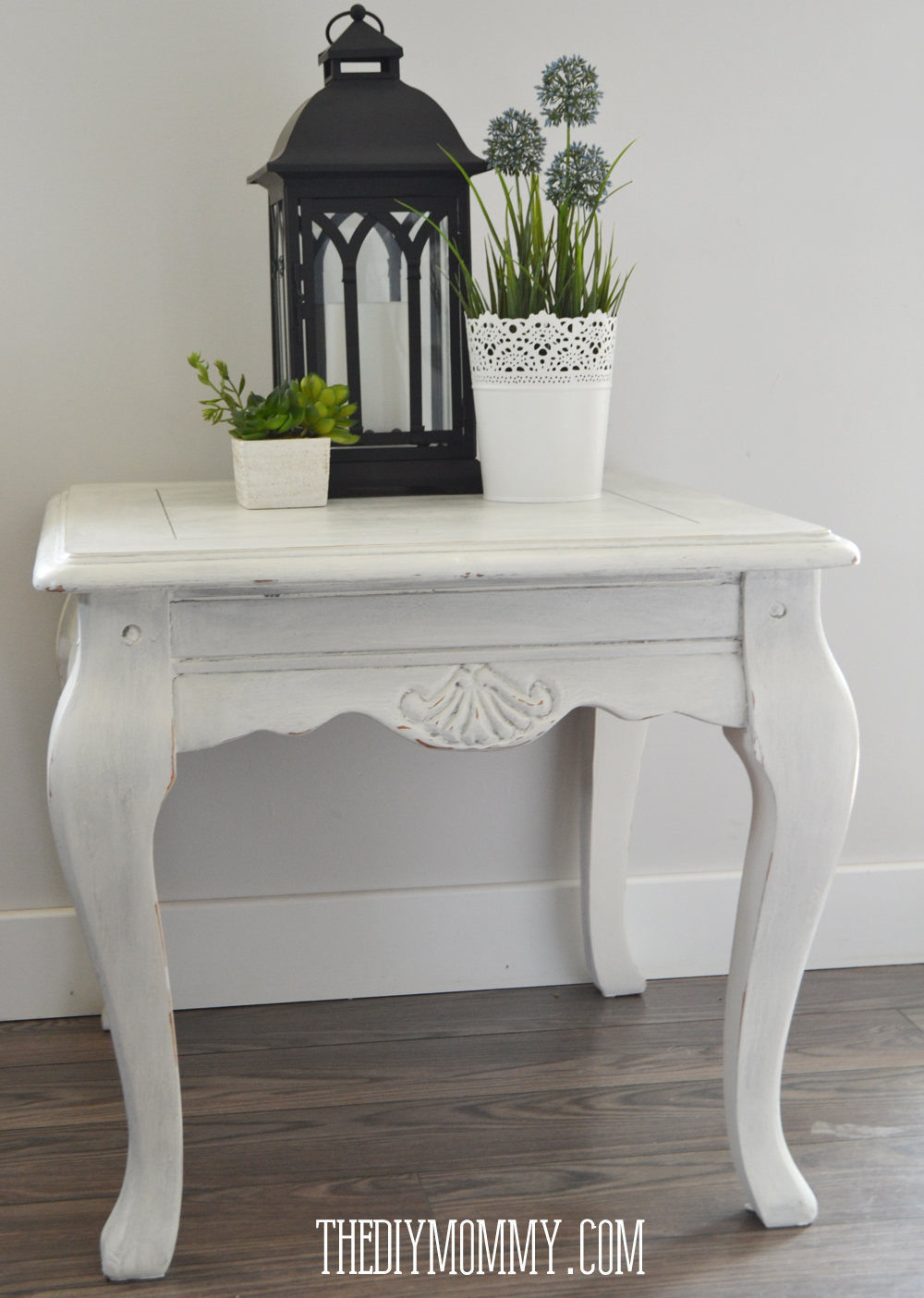 make diy dark coloured wax upcycled side table the mommy shabby chic end with chalk paint and metallic painted tables sauder furniture cabinets small tall dragon plain wooden