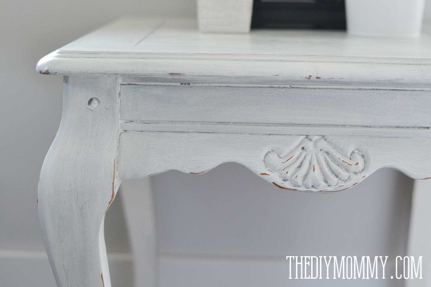 make diy dark coloured wax upcycled side table the mommy shabby chic end with chalk paint and metallic painting tables black lazy boy red couch pier one chinese half moon tall