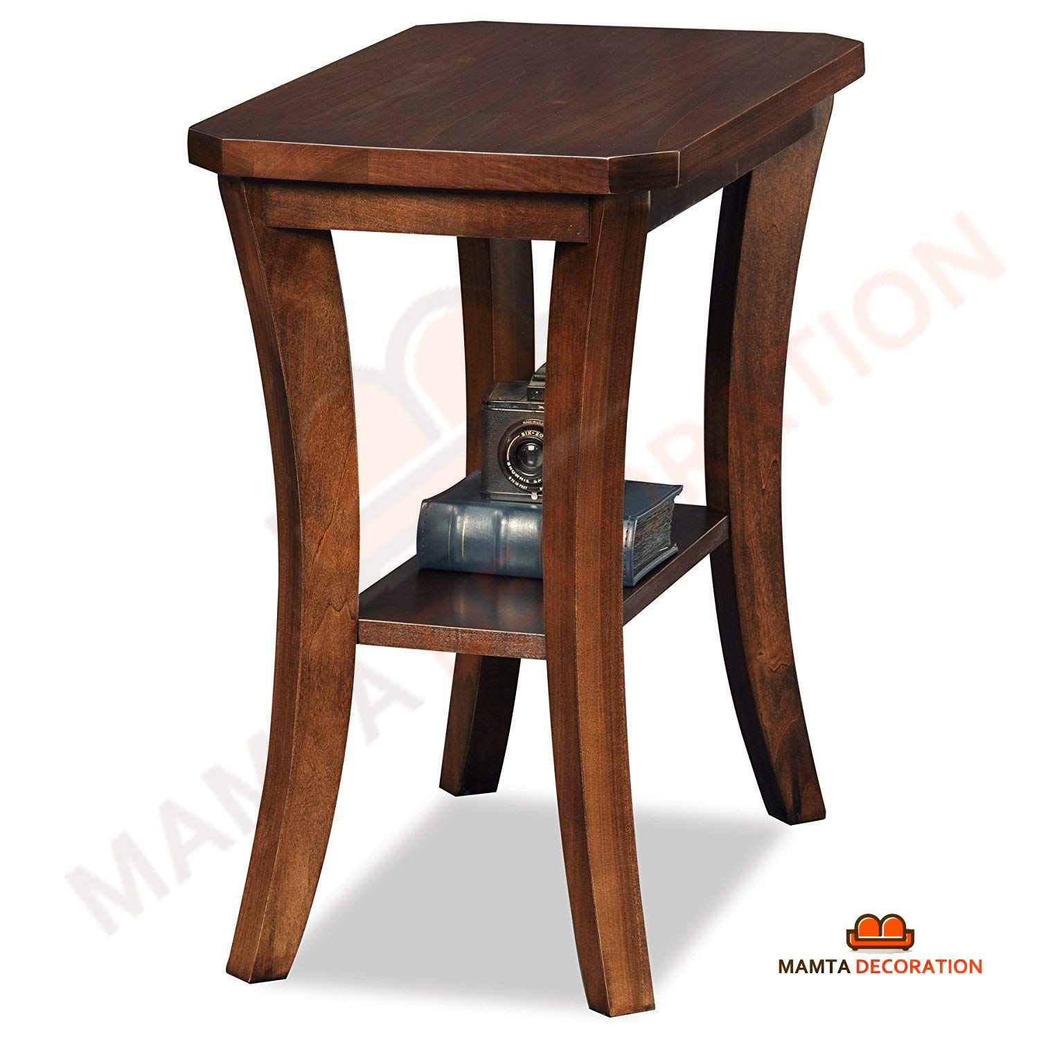 mamta decoration rosewood sheesham wood side end table chocolate brown tables cherry finish electronics living room furniture columbus small oval black couch coffee fold out tall