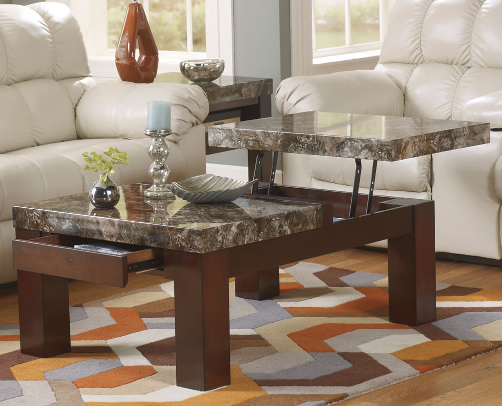 marble top coffee table with drawers tables and end best for leather furniture large how many should you have sofa home depot thomasville houston big lots living room sets black