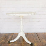 mecca end table savannah vintage and antique furniture rentals distressed ivory tables ashley brandon glass top for outdoor joanna magnolia homes chrome painted metal tray side 150x150