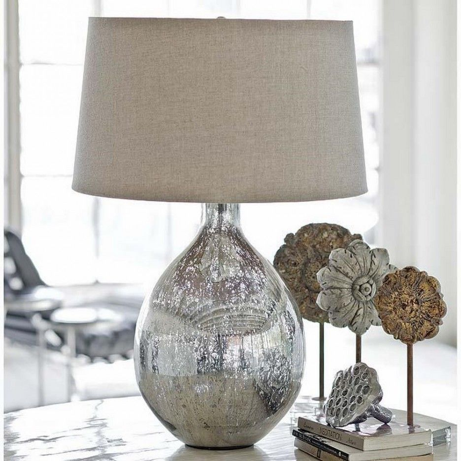 mercury glass lamps for the family room home ideas table lamp living end tables and diy pipe base where pottery barn furniture made black dining set average coffee measurements