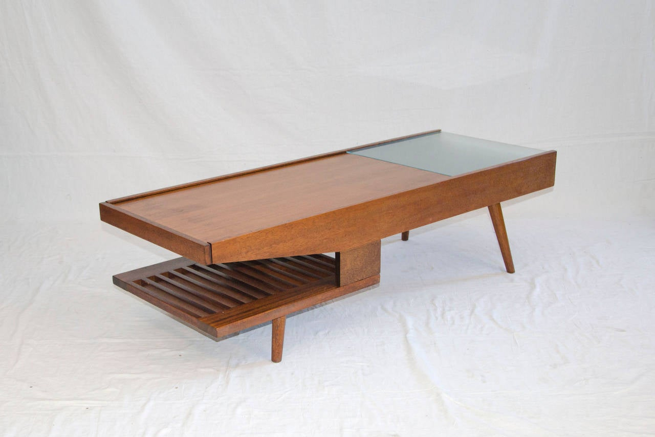 mid century coffee table john keal for brown saltman end well designed medium size gold bamboo side standard lamp height antique wood paint thomasville marketplace small acme bar