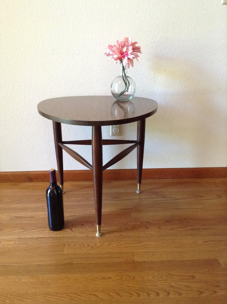 mid century modern side table vintage mersman tripod etsy end tables acme fine furniture ethan allen sleeper glass dining and chairs clearance iron diy distressed cabinets gold