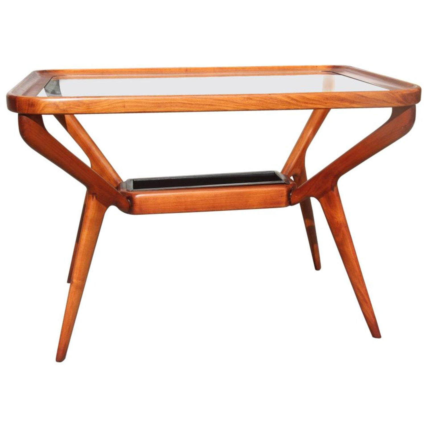 midcentury coffee table cherry wood rectangular form glass top master end tables with dassi for canadian furniture manufacturers gold and made from pallet oak finish living room