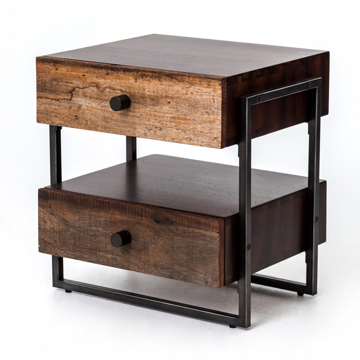 milo industrial drawer end table zin home with drawers acme loft placid cove furniture legends entertainment center magnolia market window frame ashley bailey american heritage