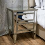 mirror nightstand the guide mirrored bedroom end tables for unmatched elegance cof cable country wagon coffee table small oak with shelf rustic casters broyhill planter 150x150