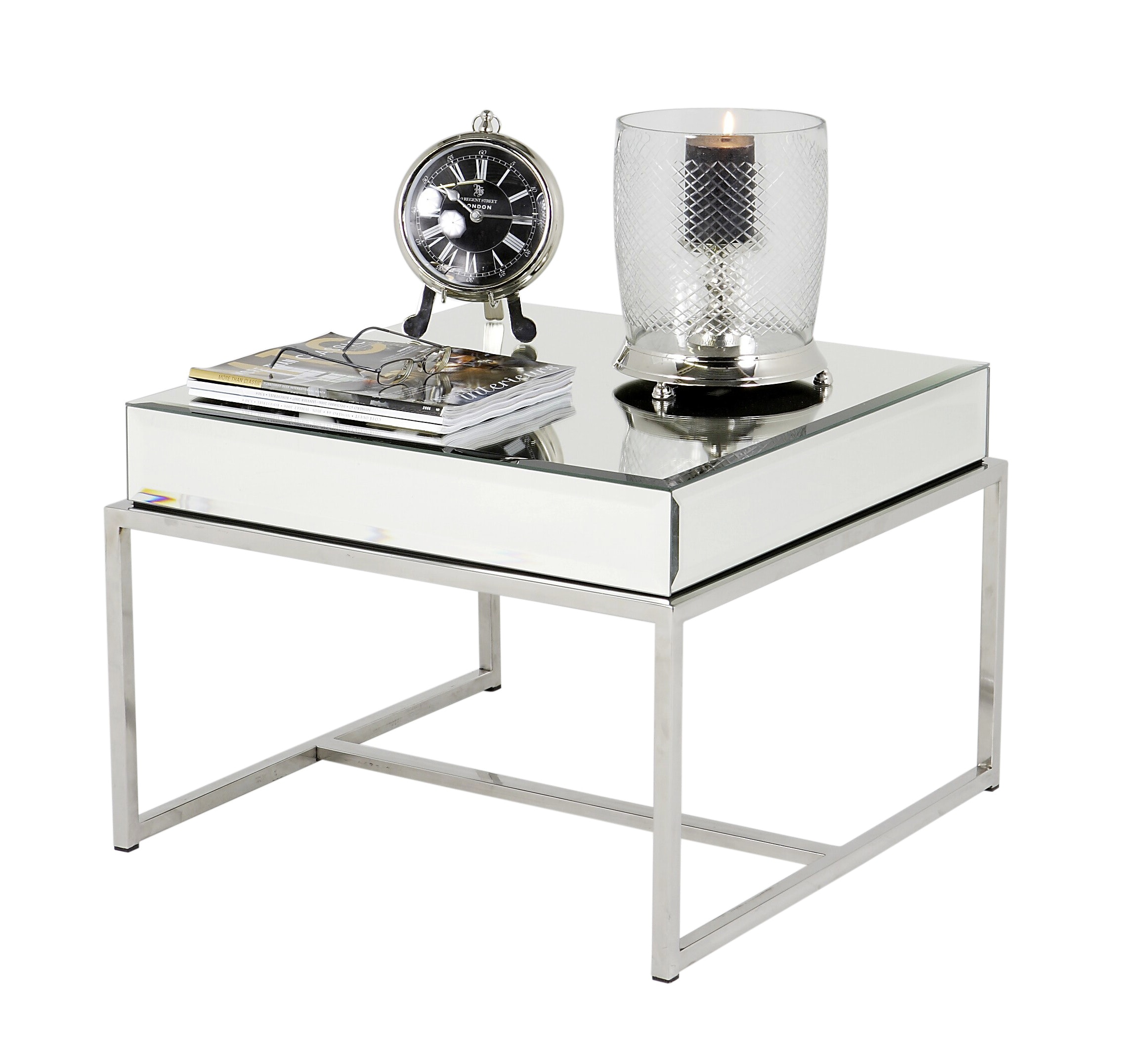 mirror side table contemporary transitional end tables michael dawkins home furniture metal modern glass dering hall unfinished wood dining kmart outdoor garden folding target