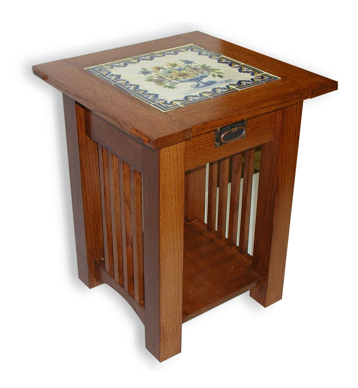 mission style end tables custom made tile top coffee table and round tree stump womens tops kmart diy accent ideas decor lift henredon furniture quality orange nest display large
