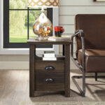 modern farmhouse end table for living room bedroom nightstand with tables details about drawer lamp bedside alternatives silver drum accent slate top furniture leons sets pair 150x150