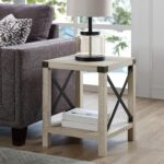 modern farmhouse white oak side table living room end tables laura ashley dining console cabinet ikea dog bedside alternatives riverside furniture bedroom sets unfinished small 150x150