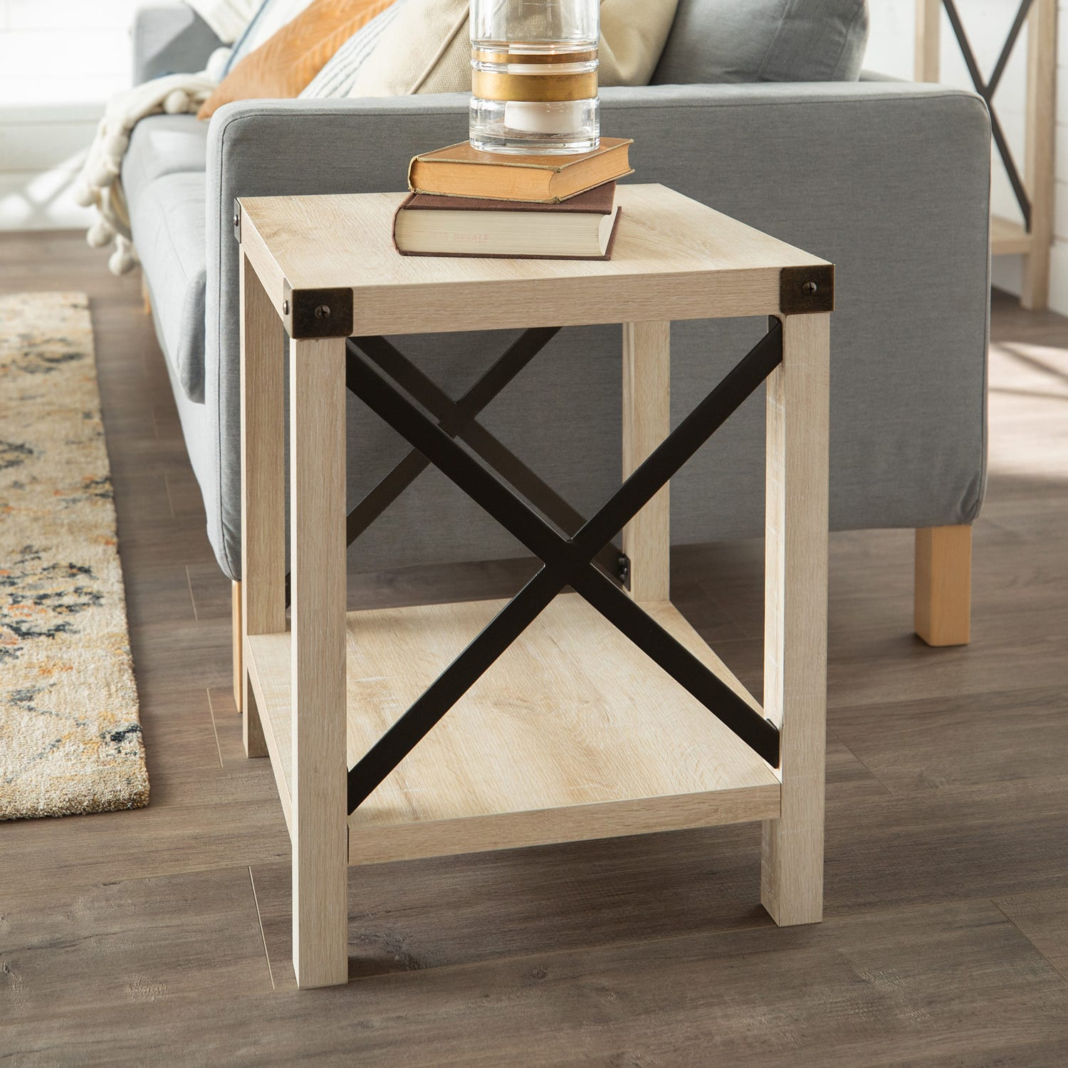 modern farmhouse white oak side table pier end tables thank you mor furniture dining used stanley room round outdoor bbq weather bedside alternatives unfinished small desk glass