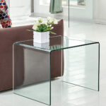 modern sofa side end table narrow snack couch glass coffee details about big dog cage occasional with drawer small refrigerators chocolate brown lazy boy swivel recliner chairs 150x150